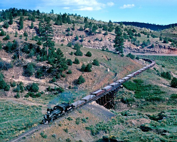May 28, 1968.  Westbound at Monero.
