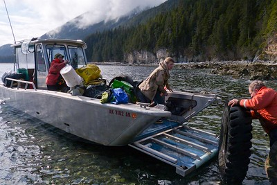 The Landing Craft is Perfect for this Job April 2013, Cynthia Meyer, Chichagof Island, Alaska