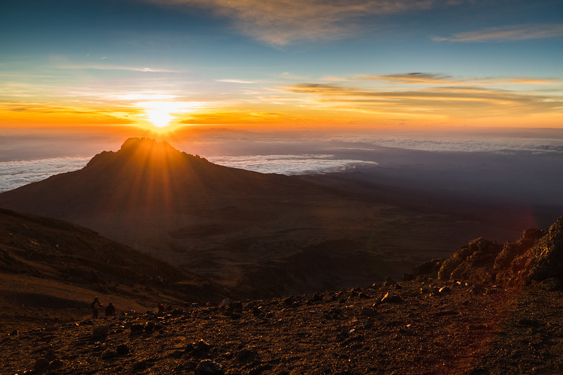 Sunrise from Stella Point on Mount Kilimanjaro