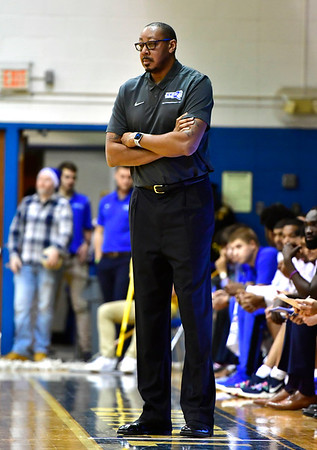 12/7/2019 Mike Orazzi | StaffrCCSU's Donyell Marshall during Saturday's mens basketball game with the University of Maine in New Britain.