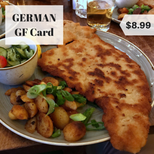 germany gluten free restaurant card