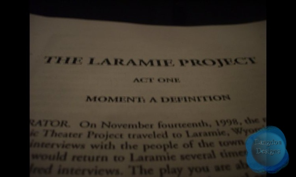 The Laramie Project (Spring 2008)