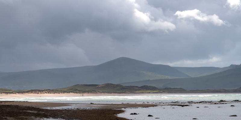 Scenic view of beach, Castlegregory, County Kerry, Ireland