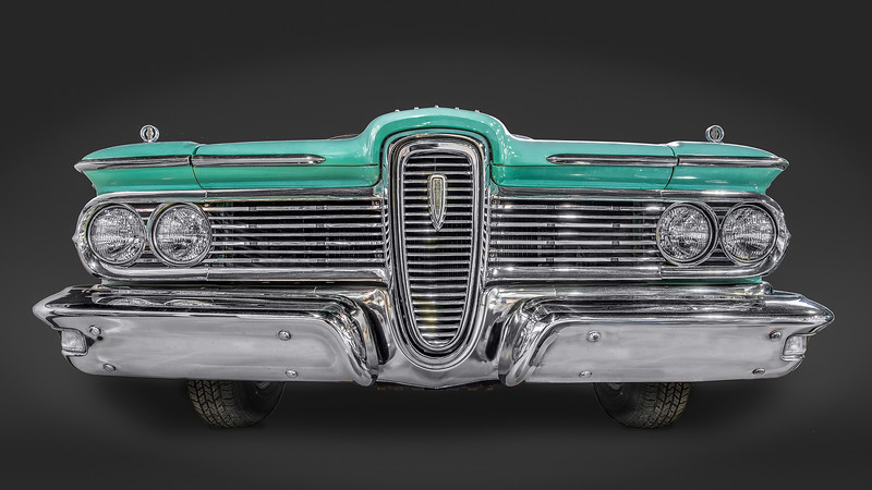 Grill area of 1959 Edsel Corsair Convertible.