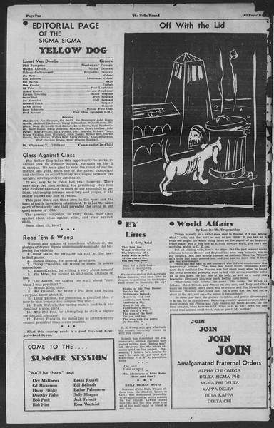 "The Sigma Sigma Yellow Dog, Vol. ""unknown"", No. ""please"", April 01, 1936"