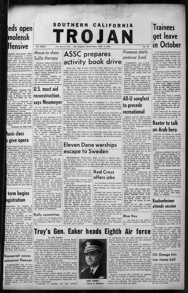 Southern California Trojan, Vol. 35, No. 26, September 01, 1943