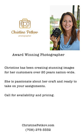 About Christine & Photography Services