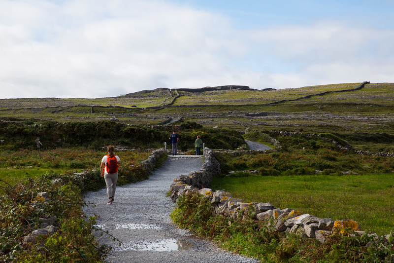We parked bikes and walked up to DUN AENGUS FORT & CLIFFS. (300 feet)