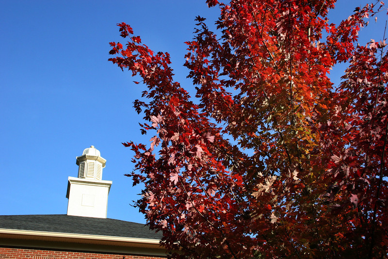 Frank Nanney Hall coupla on a Fall day on the campus of Gardner-Webb University.
