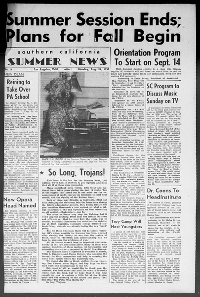 Summer News, Vol. 8, No. 17, August 24, 1953