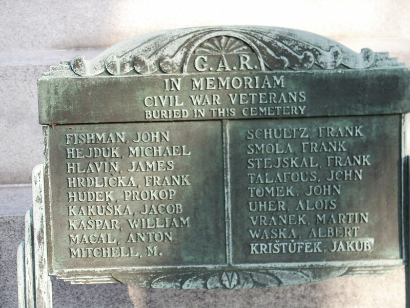 In Memoriam Civil War Veterans Buried in this Cemetery