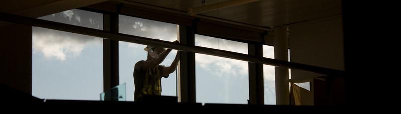 Installation  New windows being installed at work.
