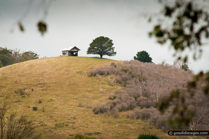 Abandoned farm hut