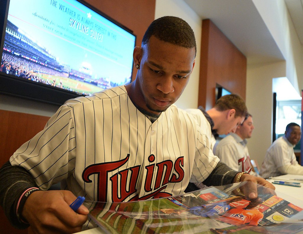 ". <p><b> Twins fans gathered last weekend at Target Field for TwinsFest, and many of them were surprised to learn that minor league center fielder Byron Buxton, who just turned 20, was � </b> <p> A. A new father <p> B. Voted the No. 1 prospect in baseball <p> C. Dating a woman twice his age <p><b><a href=\'http://www.twincities.com/sports/ci_24998627/twins-prospect-byron-buxton-natural-father-too\' target=""_blank\"">HUH?</a></b> <p>  (Pioneer Press: John Autey)"