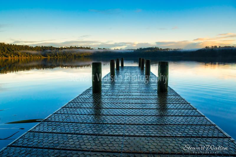 Lake Ianthe  pier at sunrise