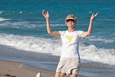 Carole at the Beach
