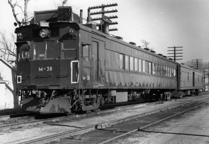 UP EMC Car M-38. Salina, Kansas. 1958. (Shelby Campbell Photo)