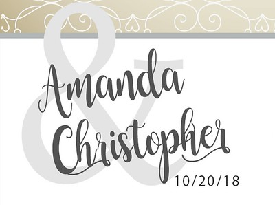 Amanda & Christopher's Wedding!