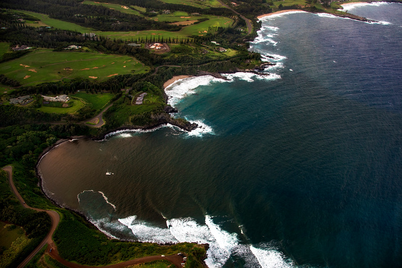 Maui's Golf courses seen from above, Maui, Hawaii