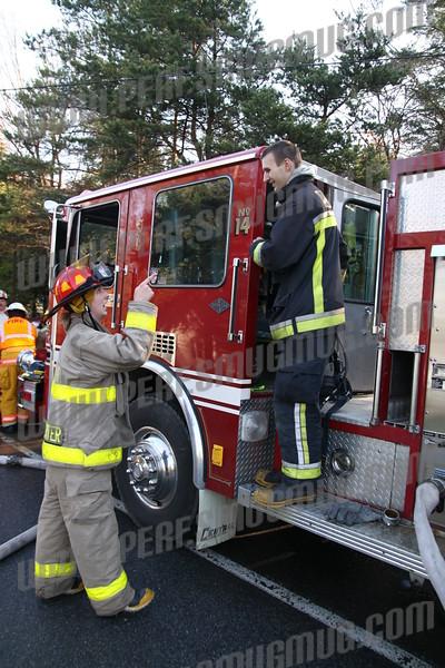 Teina Road fire, Broadalbin, 4-25-2009