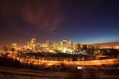 Night Cityscapes of Calgary