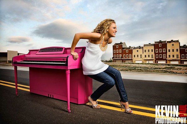 Kelsey Piano Shoot - Kevin Paul Photography
