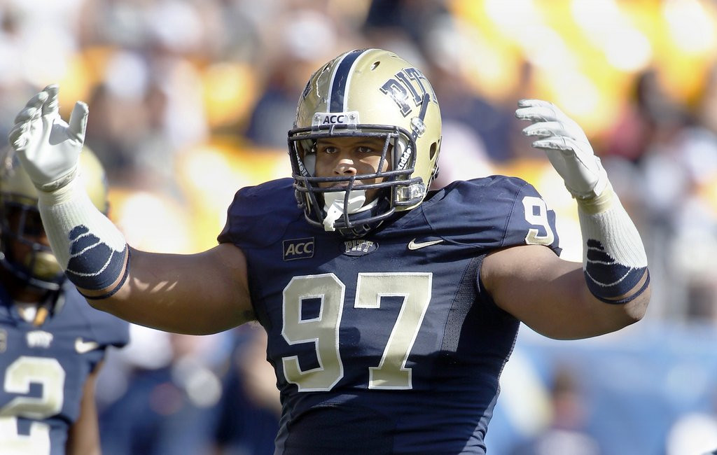 . <p><b>12. New York Giants: Aaron Donald, DT, Pittsburgh. </b> <p>The Giants waved goodbye to defensive linemen Justin Tuck and Linval Joseph. Welcome to the Big Apple, big guy.  (AP Photo/Keith Srakocic)