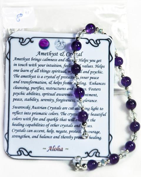 Amethyst & Swarovski  Crystal