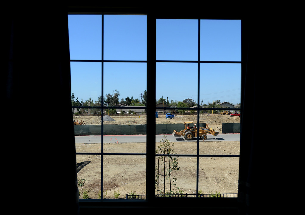 . The new Magnolia Heights neighborhood development at the Colonies in Upland, CA, Monday, May 12, 2014. (Photo by Jennifer Cappuccio Maher/Inland Valley Daily Bulletin)