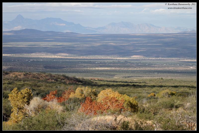View of Green Valley from Proctor Road Trail, Madera Canyon, Arizona, November 2011