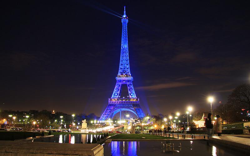 Paris in Blue: Le Tour Eiffel, Paris, France