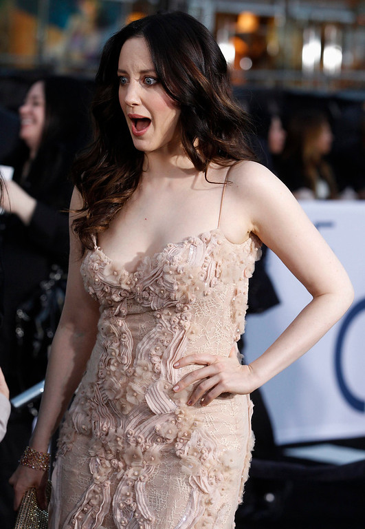 """. Cast member and British actress Andrea Riseborough poses at the premiere of her new film \""""Oblivion\"""" in Hollywood, California April 10, 2013.  REUTERS/Fred Prouser"""