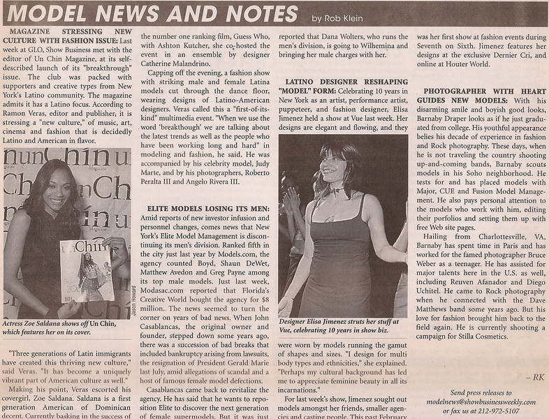 SHOW BUSINESS WEEKLY | APRIL 2005