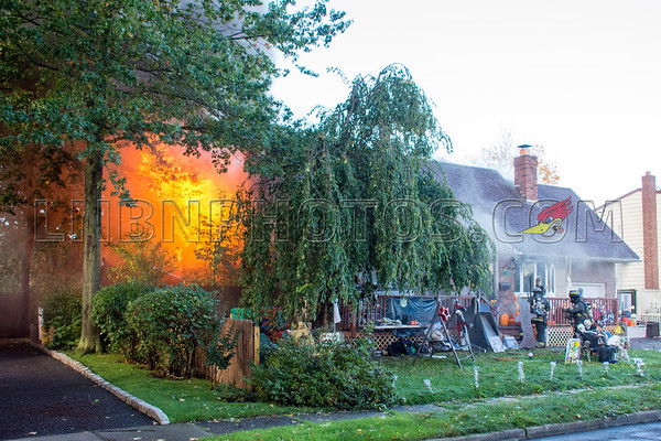 North Massapequa F.D. House Fire 3982 Kingsberry Road 10-25-17