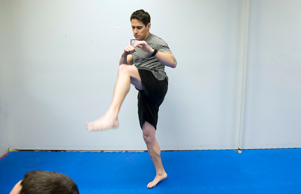 01/07/20 Wesley Bunnell | StaffrrPeter Giannola warms up at New Britain Judo & Dynamic Arts on West Main St in New Britain.