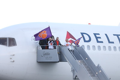 Clemson team arrival at for 2019 National Championship Game