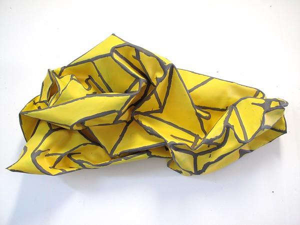 "Paper Airplane-Iorillo, 20""x39""x15"" sculptured canvas"