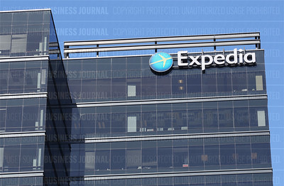 Pictured is the Expedia's current headquarters at 333 108 Ave NE, Bellevue, Washington