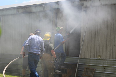 West Shelby County mobile home fire - June 13, 2019