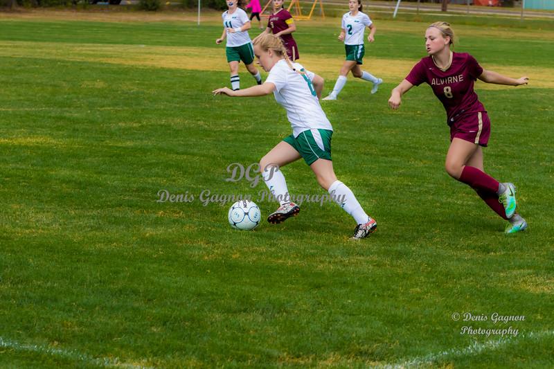 DHS VS Alverine 090616 Girls Soccer