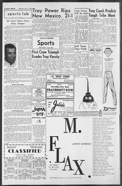 Daily Trojan, Vol. 54, No. 99, April 17, 1963