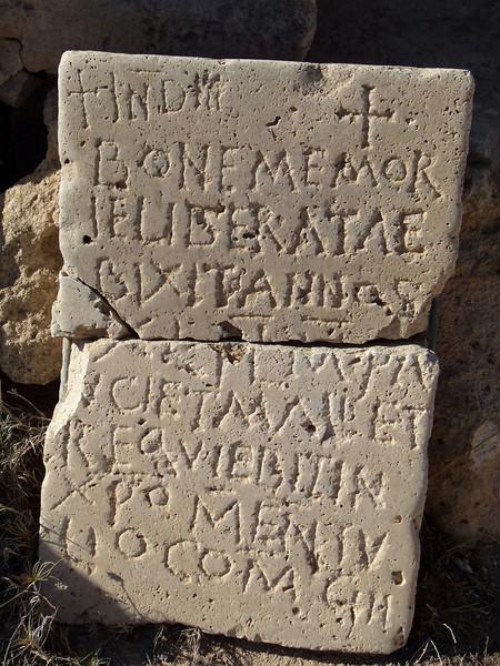 Tombstone at Sabratha.