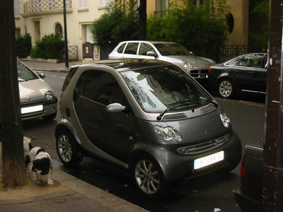 Cars and Bikes in Paris