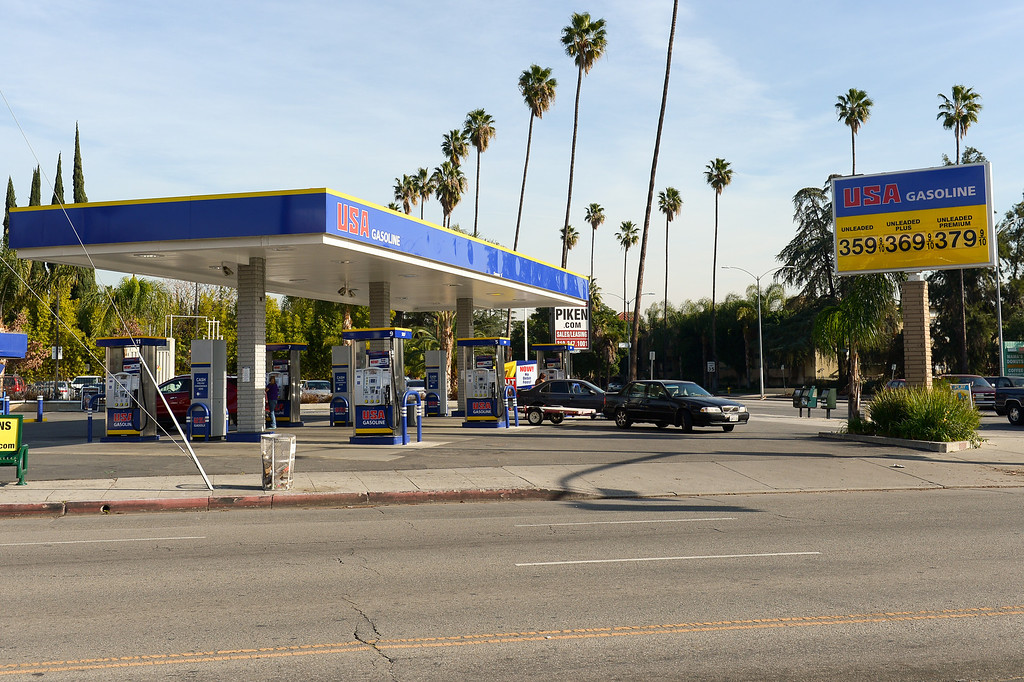 . USA gasoline is now located at Sherman Way and Balboa Boulevard in Reseda, with higher gas prices. (Photo by Michael Owen Baker/L.A. Daily News)