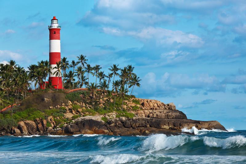 Kovalam (Vizhinjam) lighthouse. Kerala, India
