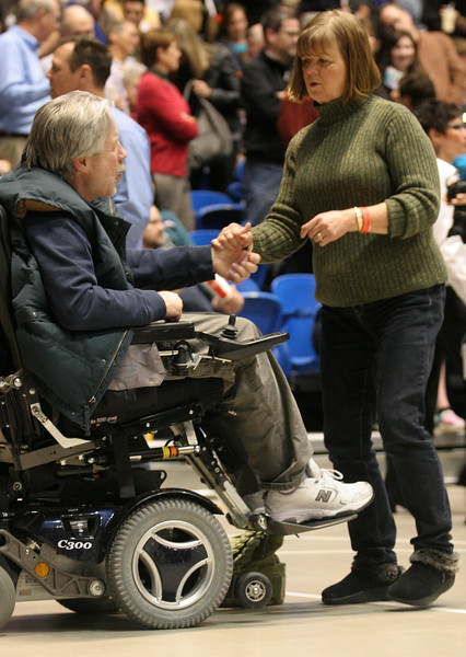 """The evening also had a live band playing which brought some to the """"dance floor"""".  Here, Robert and Mary Schannach are dancing and enjoying the tunes."""