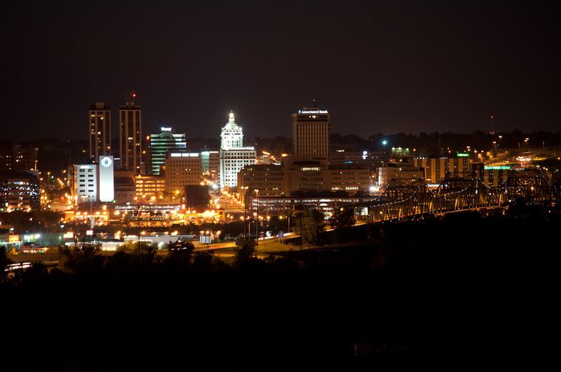 Peoria, IL Skyline at Night #DSC_0012