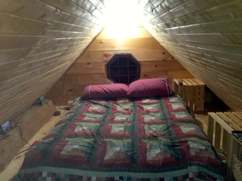 Maine cabin inside