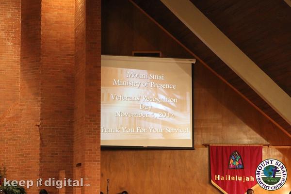 Veterans Day Service 2012