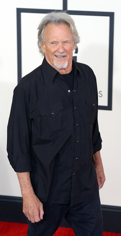 . Kris Kristofferson arrives at the 56th Annual GRAMMY Awards at Staples Center in Los Angeles, California on Sunday January 26, 2014 (Photo by David Crane / Los Angeles Daily News)